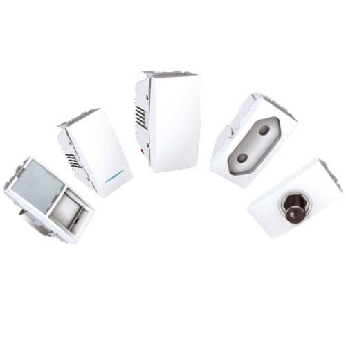 Механизмы Unica Белый 1 модульные (половинки)