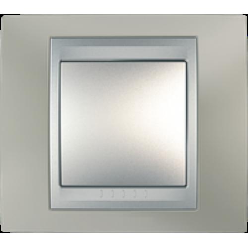 Рамки Unica Top - Матовый никель/Алюминий