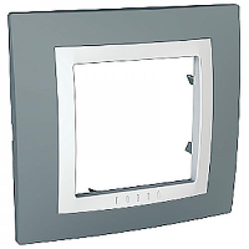Рамки Unica Basic Серый техно/Белый