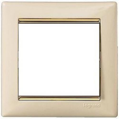 Рамки Legrand Valena (слоновая кость/золотой штрих)