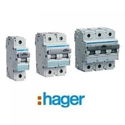 Автоматические выключатели Hager HLF 80-125А, 10 кА, хар-ка С