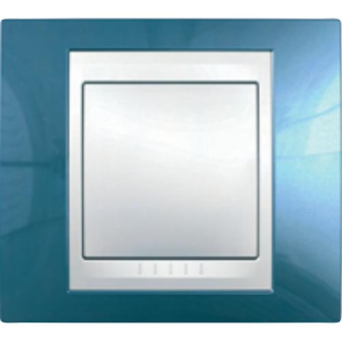 Рамки Unica Plus Голубой лед/Белый