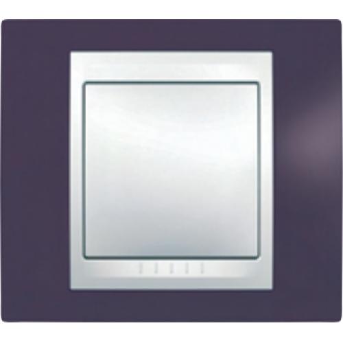 Рамки Unica Plus Гранат/Белый