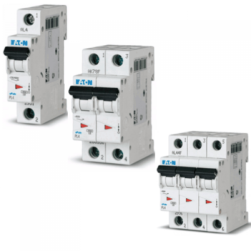 Автоматические выключатели PL6 6 kA. хар-ка С