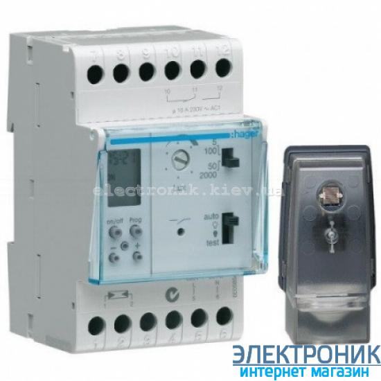 Сумеречное реле цифровым недельным таймером Hager EE171 - 230В/16А, 1 ПК