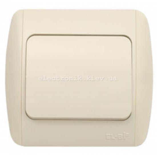 Выключатель 1-клавишный проходной КРЕМ EL-BI Zirve Fixline
