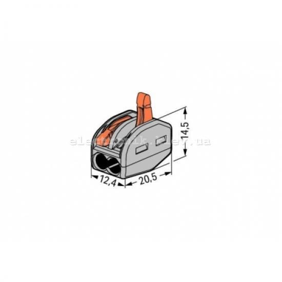 Самозажимной клеммник Wago на 2 провода, 222-412