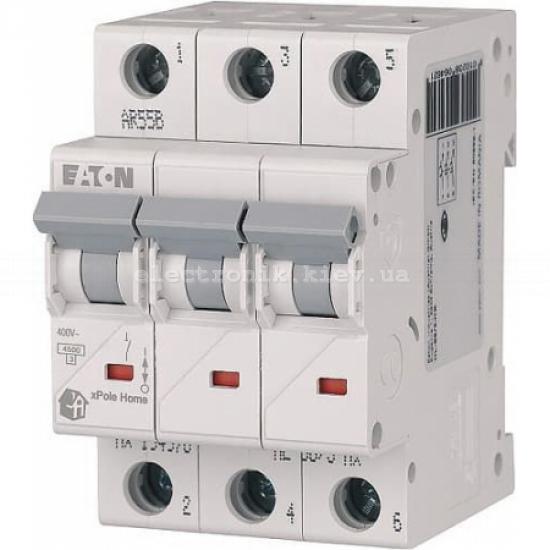 Автоматический выключатель Eaton (Moeller) HL 4,5kA х-ка C 3P 63А (194797)