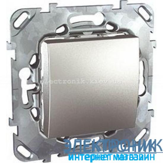 Schneider (Шнайдер) Unica алюминий выключатель проходной