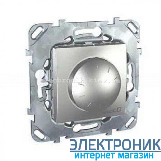 Schneider (Шнайдер) Unica алюминий диммер поворотный 40-400W