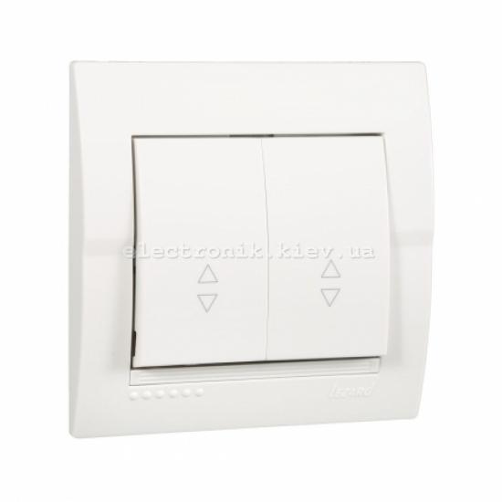 Выключатель проходной двойной LEZARD DERIY белый