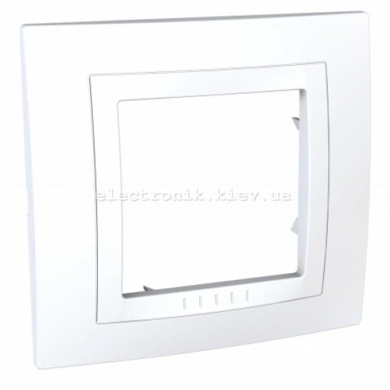 Schneider (Шнайдер) Unica basic белая рамка на одно место