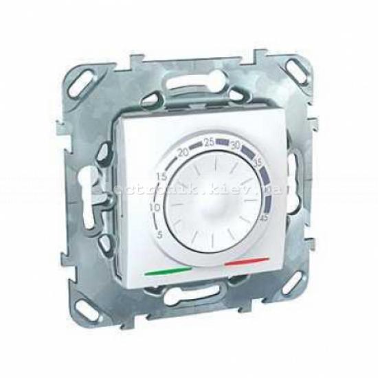 Schneider (Шнайдер) Unica белый электронный термостат 8А воздушный