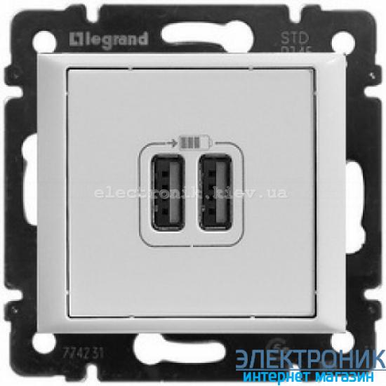 Механизм розетки USB белая 770470 Legrand Valena