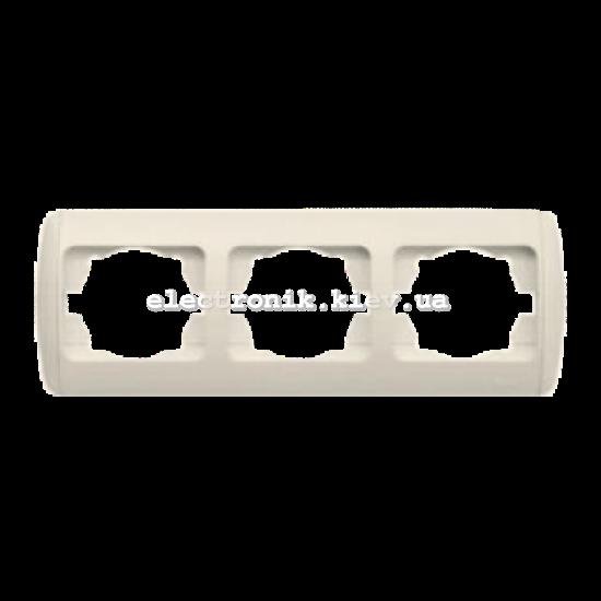Рамка 3-кратная горизонтальная, КРЕМ EL-BI Zirve Fixline