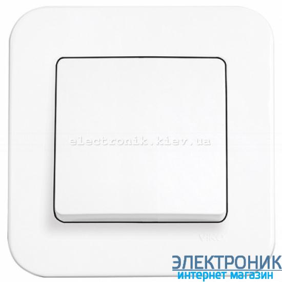 Выключатель одноклавишный VIKO Rollina Белый (90420001)