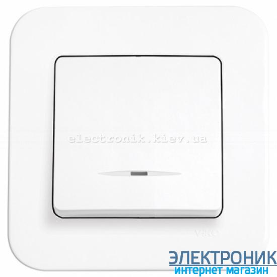 Выключатель с подсветкой одноклавишный VIKO Rollina Белый (90420019)