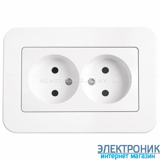 Розетка двойная VIKO Rollina Белая (90420055)