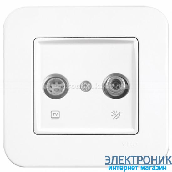 Розетка ТВ / SAT VIKO Rollina Белая (90420085)