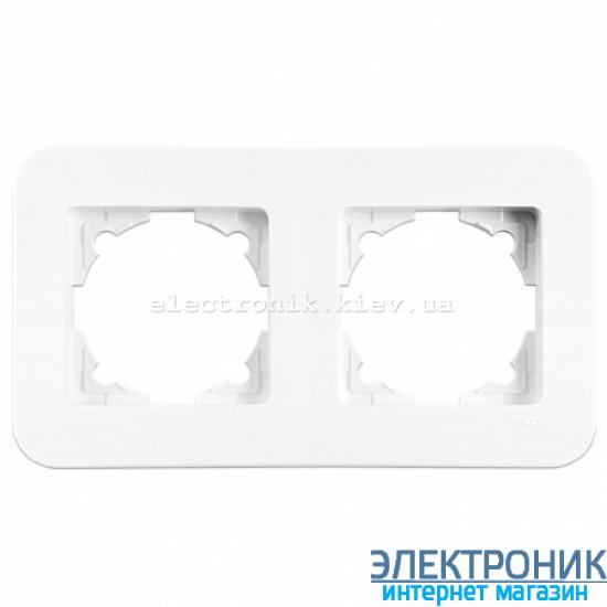 Двойная горизонтальная рамка VIKO Rollina Белая (90480052)
