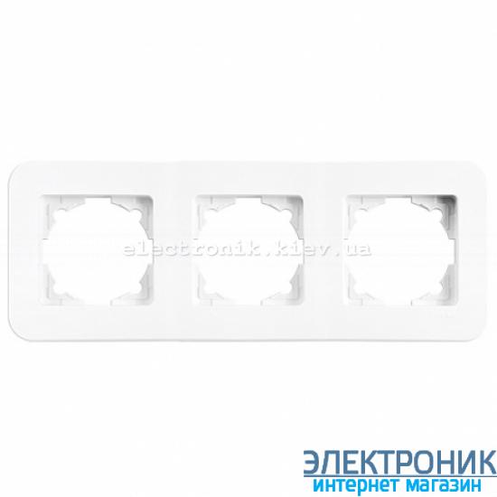 Тройная горизонтальная рамка VIKO Rollina Белая (90480053)