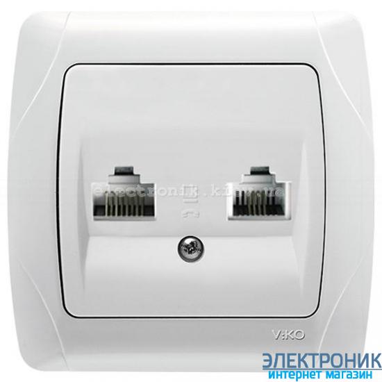VIKO CARMEN БЕЛЫЙ Розетка комплексная (компьютерная + телефонная)