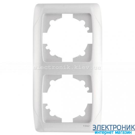 VIKO CARMEN БЕЛЫЙ Рамка 2-я вертикальная