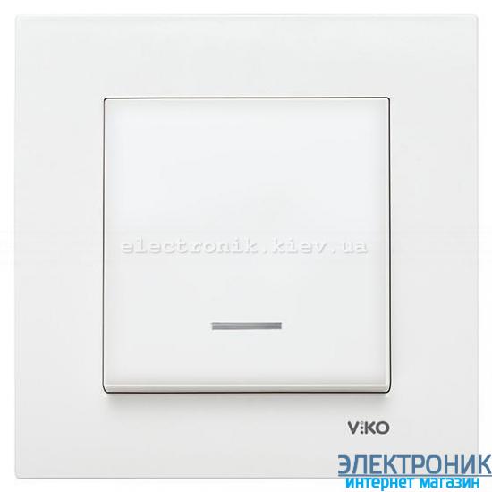 VIKO KARRE БЕЛЫЙ Выключатель с подсветкой