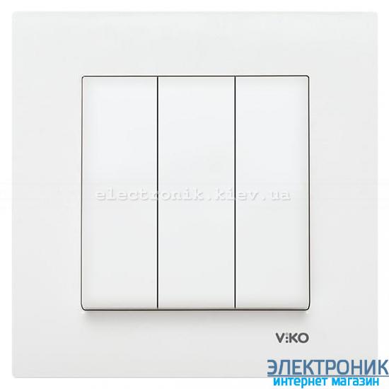 VIKO KARRE БЕЛЫЙ Выключатель тройной