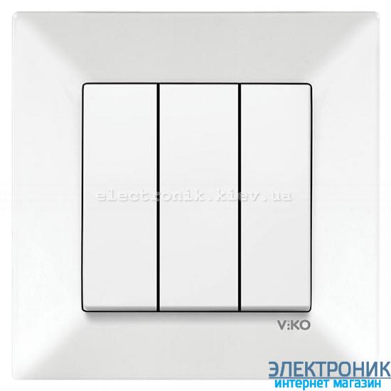 VIKO MERIDIAN БЕЛЫЙ Выключатель тройной