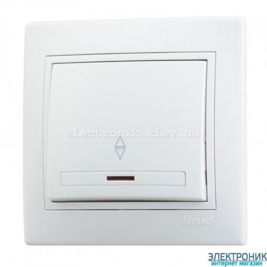 MIRA БЕЛЫЙ Выключатель проходной с подсветкой