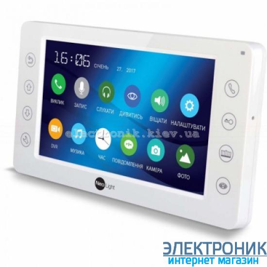 Цветной видеодомофон NeoLight Kappa+ с 7 дюймовым экраном Белый