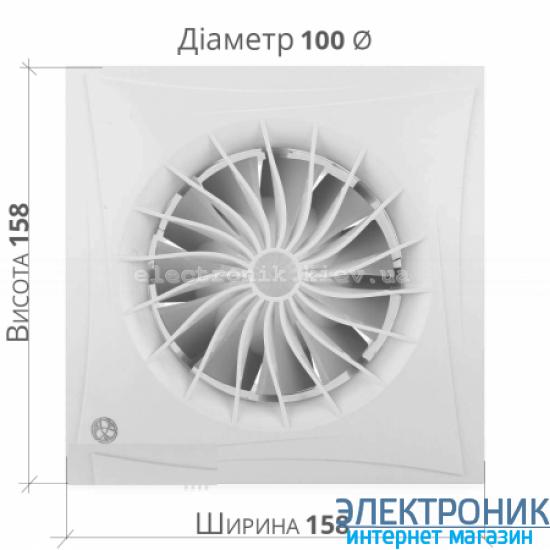 BLAUBERG SILEO 125 Н - вытяжной бесшумный вентилятор с датчиком влажности