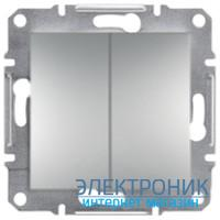 Выключатель Schneider (Шнайдер) Asfora Plus 2-клавишный алюминий