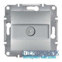 Розетка Schneider (Шнайдер) Asfora Plus TV концевая (1 дБ) алюминий