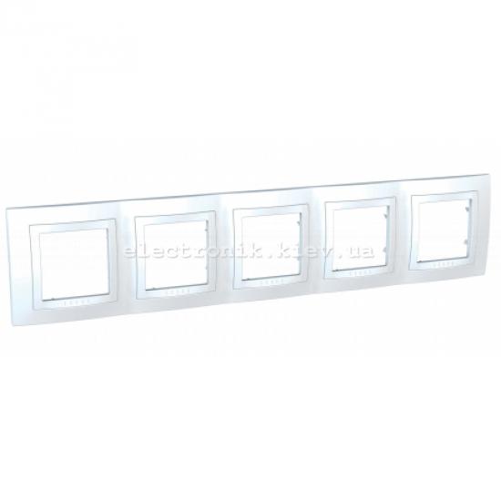 Schneider (Шнайдер) Unica basic белая рамка на пять мест