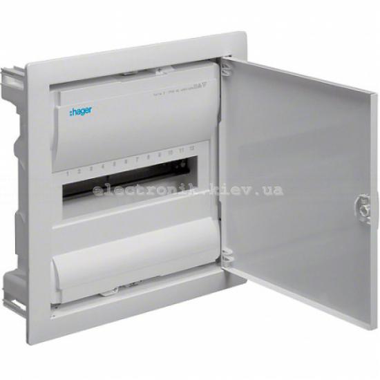 Hager Volta VU12UA. Щит на 12(14) модулей внутренней установки с металлической дверью