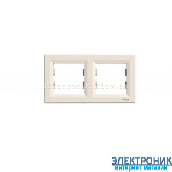 Рамка 2-я горизонтальная крем Шнайдер ASFORA