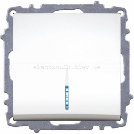 Механизм Выключатель с подсветкой EL-BI Zena белый
