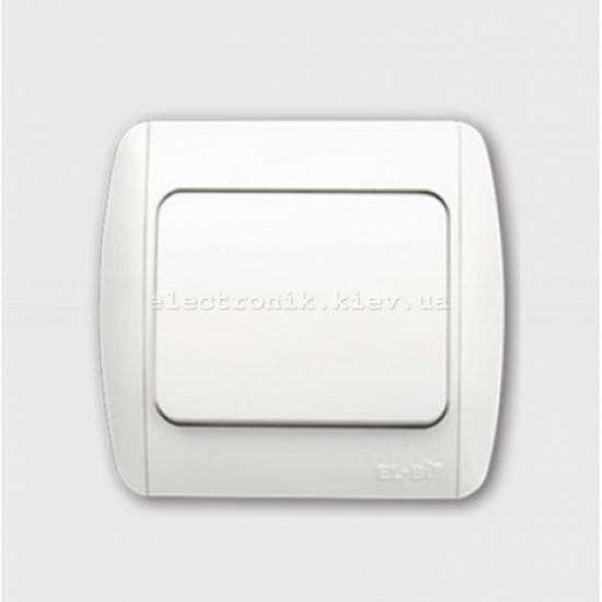 Выключатель 1-клавишный перекрёстный белый EL-BI Zirve Fixline