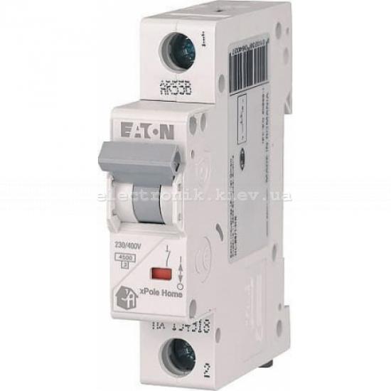 Автоматический выключатель Eaton (Moeller) HL 4,5kA х-ка C 1P 20А (194732)