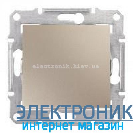 Переключатель Schneider (Шнайдер) Sedna 1-клавишный перекрестный титан