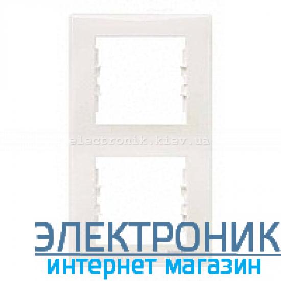 Рамка Schneider (Шнайдер) Sedna 2-постовая вертикальная слоновая кость