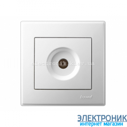 LESYA БЕЛЫЙ Розетка ТВ проходная