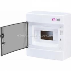 Щит наружный распределительный ECT 8PT 8 модулей (прозрачная дверь) IP-40 ETI