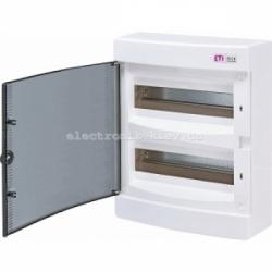 Щит наружный распределительный ECT 24PT 24 модуля (прозрачная дверь) IP-40 ETI ECT24PT ETI