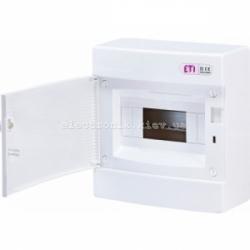 Щит наружный распределительный ECT 8PO 8 модулей (белая дверь) IP-40 ETI