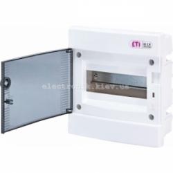 Щит внутренний распределительный ECM 8PT 8 модулей (прозрачная дверь) IP-40 ETI