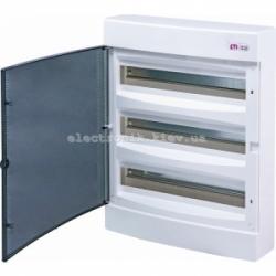 Щит наружный распределительный ECT 3х18PT 54 модуля (прозрачная дверь) IP-40 ETI