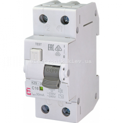 Диф. автоматический выключатель KZS-2M C 16/0,03 тип AC (10kA) ETI